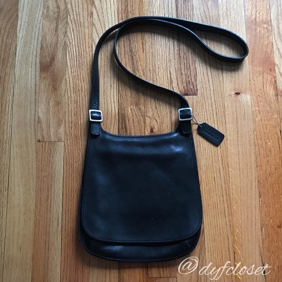 ab2c51291cb Coach Bags   Vintage Leather Hippie Flap Crossbody Bag   Poshmark